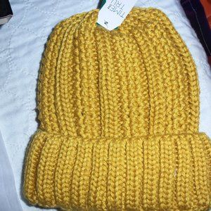 Women's Lined Mustard Yellow Hat NWT